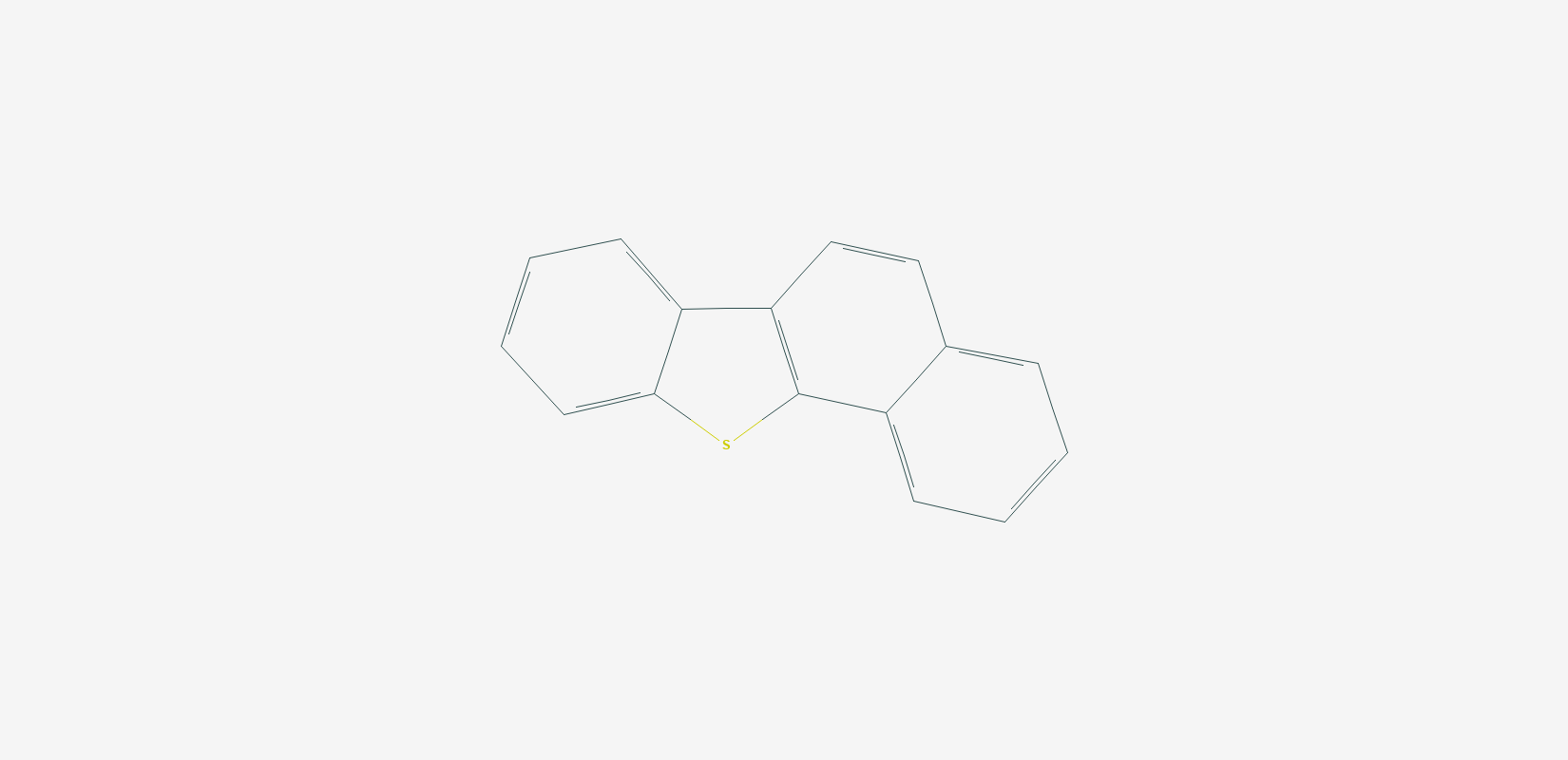 Structure of benzo[b]naphtho[1,2-d]thiophene